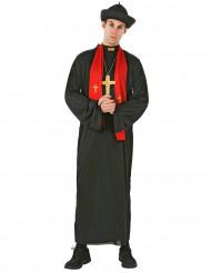 Pappi violetillä suorakaidehuivilla - Naamiaisasu aikuisille