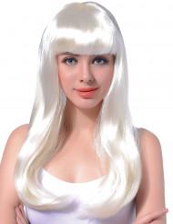 Valkoinen pitkä peruukki