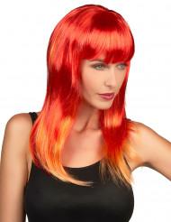 Naisten peruukki Pitkät punaiset hiukset