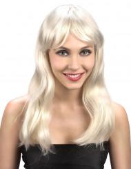 Vaalea Åsa-peruukki, pitkä