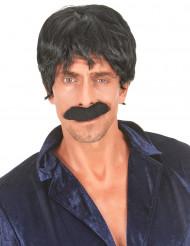 Aikuisten peruukki Musta discolaulajan tukka