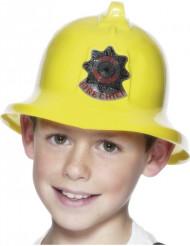 Keltainen palomiehen kypärä