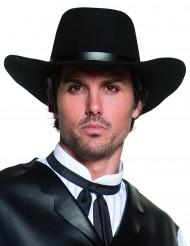 Musta Premium-laatuinen cowboy-hattu aikuisille