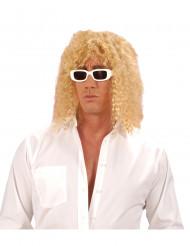 80-luvun rocktähti - Vaalea peruukki