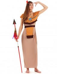 Intiaanineidon mekko unisiepparilla - Naamiaisasu aikuisille