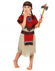Lasten intiaaniasu punaisilla hartioilla