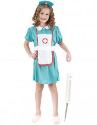 Sairaanhoitajan turkoosi asu lapsille