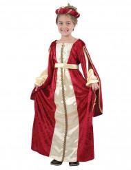 Keskiaikainen kuningattaren mekko lapsille