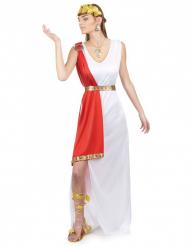 Roomalaisen jumalattaren naamiaisasu punaisella huntulla aikuiselle