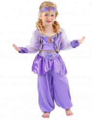 Violetti itämaisen tanssijattaren naamiaisasu lapselle