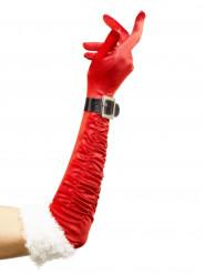 Pitkät punaiset jouluhansikkaat