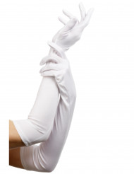 Pitkät valkoiset hansikkaat aikuisille