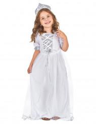 Prinsessa valkoinen - Lasten Naamiaisasu