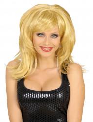 Muhkea blondi peruukki aikuisille