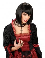 Neiti vampyyri - Musta peruukki Halloweenjuhliin