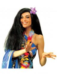 Musta havaijilainen peruukki naiselle