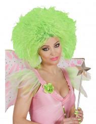 Naisten neonvihreä peruukki