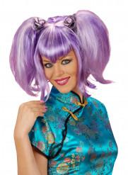 Naisten violetti peruukki saparoilla