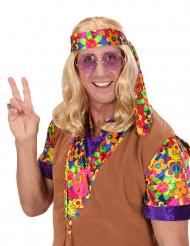 Blondi hippiperuukki aikuiselle
