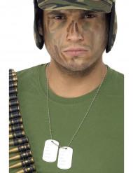 Metallilaatta sotilas