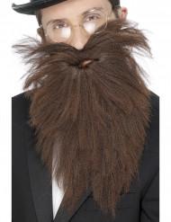 Ruskea, pitkä parta miehelle