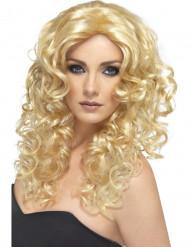 Naisten peruukki kiharaisilla hiuksilla