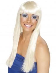 Vaalea peruukki, pitkä