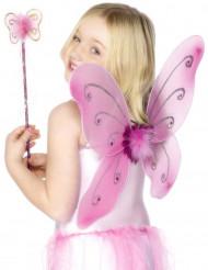 Vaaleanpunainen perhossetti lapsille
