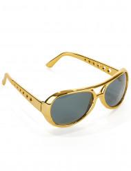 Kultaiset Elvis™ aurinkolasit