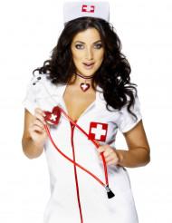 Punavalkoinen stetoskooppi