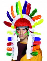 Kirjava intiaanin päähine aikuisille