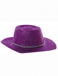 Violetti cowboy-hattu