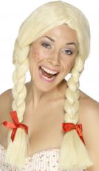 Vaalea peruukki leteillä