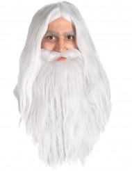 Taru Sormusten Herrasta™ Gandalfin peruukki ja parta