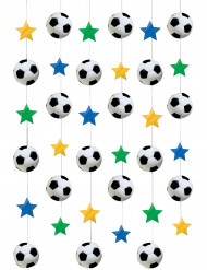 Jalkapalloaiheiset roikkuvat koristeet 6 kpl