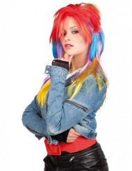 Värikäs punk- peruukki