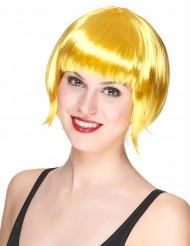 Naisten peruukki lyhyet keltaiset hiukset