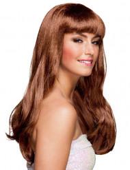 Vaaleanruskea pitkä peruukki