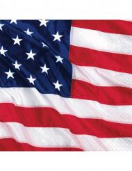Amerikan lippu servietit 16kpl
