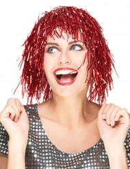 Metallinhohtoinen punainen peruukki aikuisille