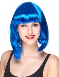 Puolipitkä sininen peruukki