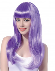 Violetti peruukki