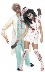 Zombielääkäri ja hoitsu -pariasu aikuisille