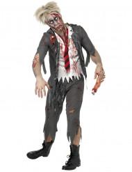 Miesten zombi-koululainen Halloween-asu