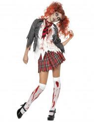 Zombie-koulutyttö Halloween-asu naisille