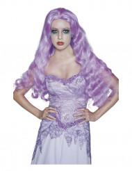 Naisten pitkä, violetti Halloween goottiperuukki