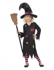 Tytön noita-asu halloweeniin