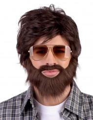 Hipsterin hiukset ja parta