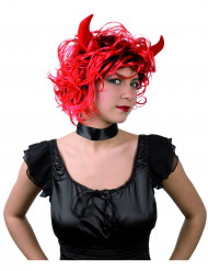 Naispaholaisen peruukki sarvilla - Halloween