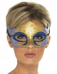 Sinikultainen venetsialainen naamio